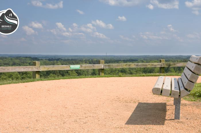 bench overlook on hill top