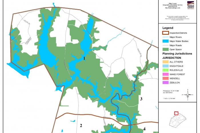 map of inspector area 1 Falls Lake