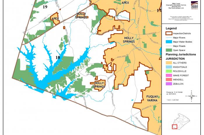map of inspector area 18 - Harris Lake up to US 1