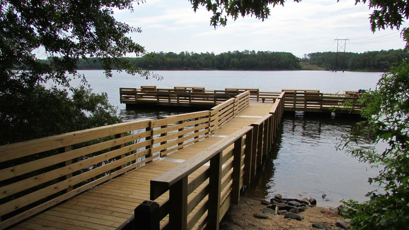 Photo of the fishing pier located within the park