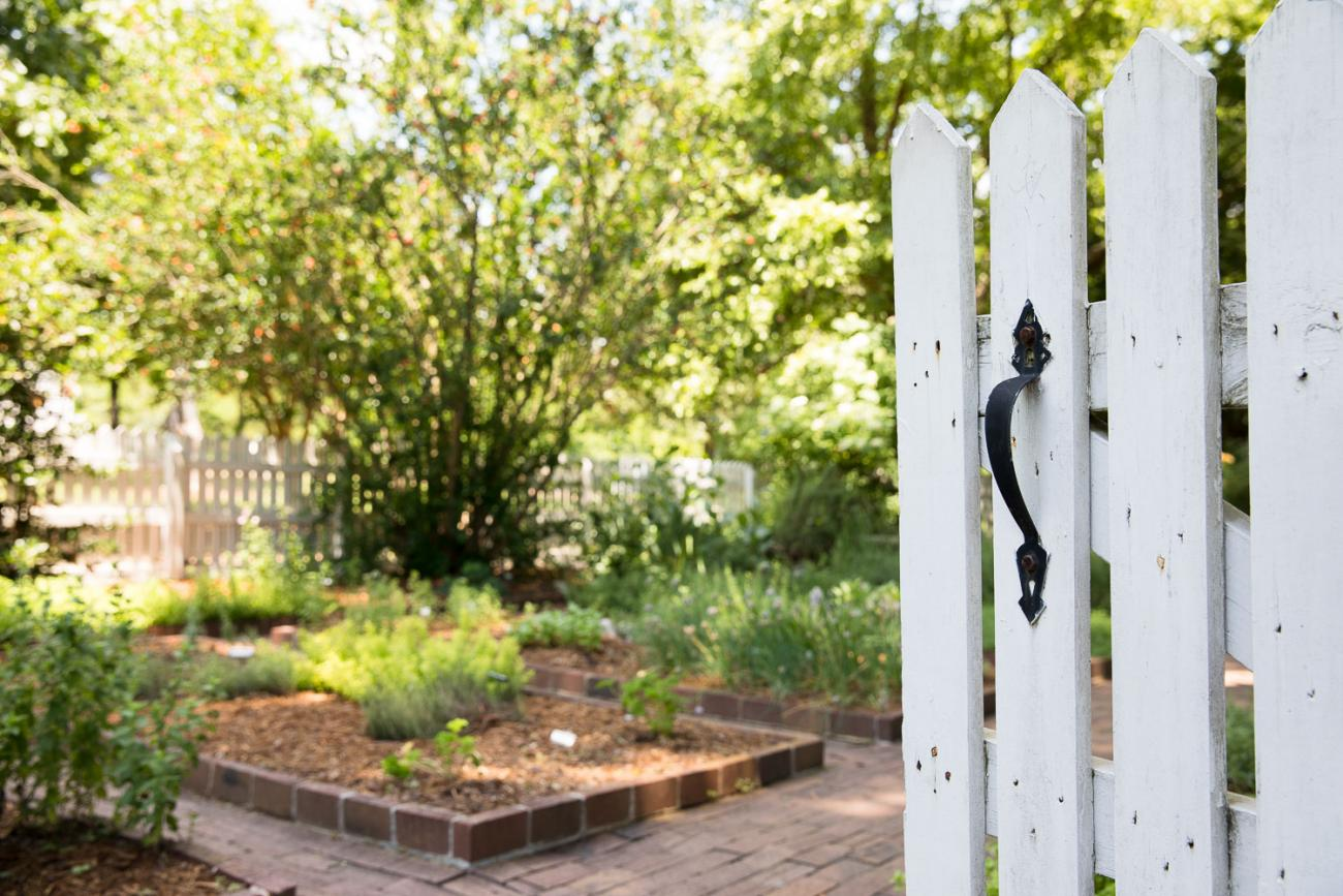 entrance to the kitchen garden at Oak View