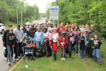 Group picture of Big Sweep volunteers