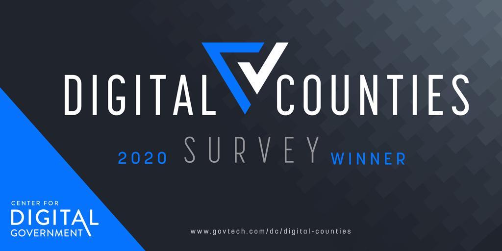 2020 Digital Counties Survey logo winner badge