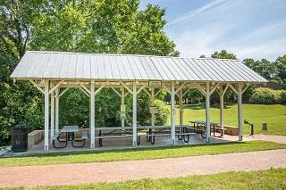 Carya picnic shelter at Historic Oak View