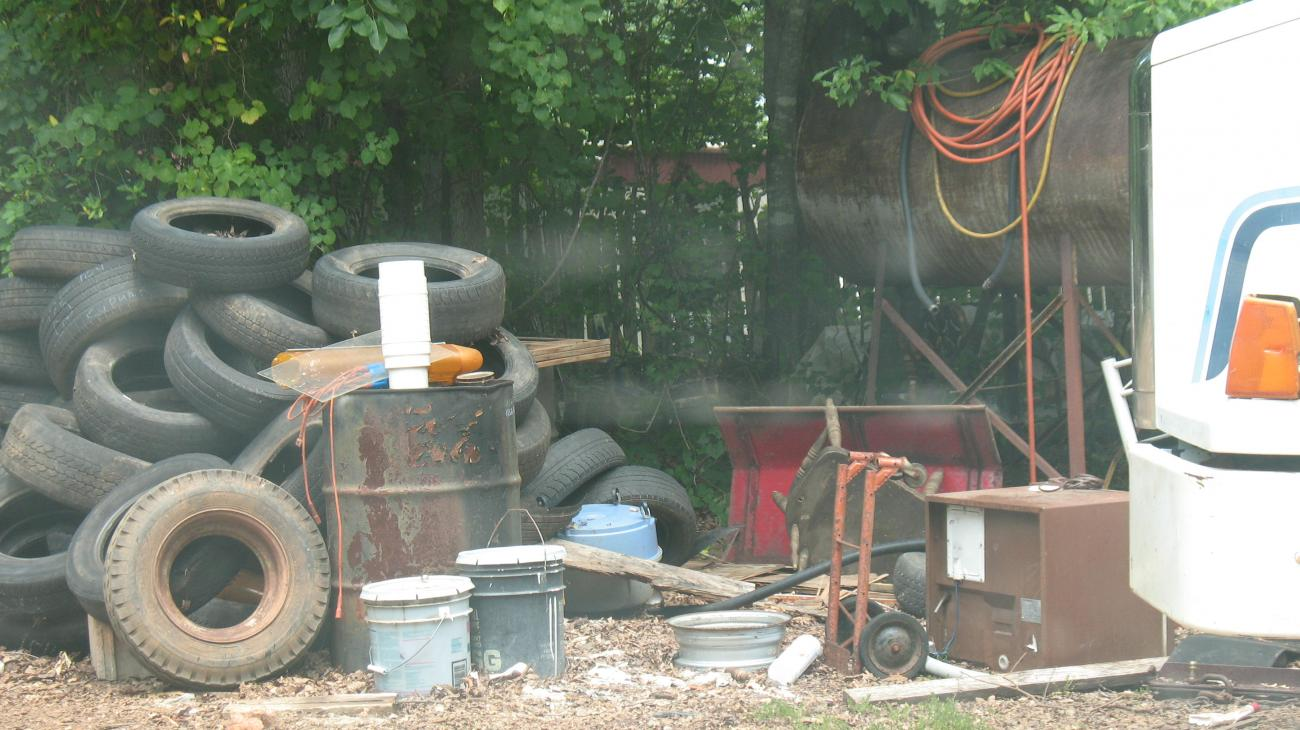 old tires and junk are a violation of Wake County codes