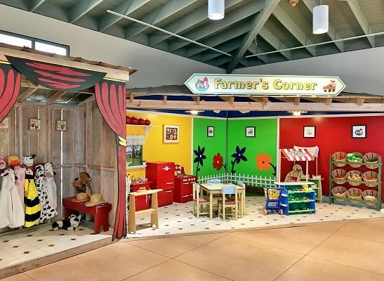 kid's play area inside the Farm History Center