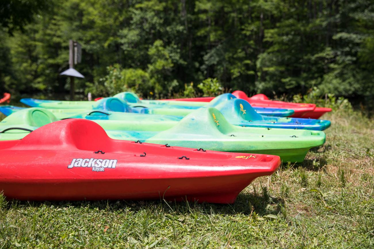 Series of kayaks for renting