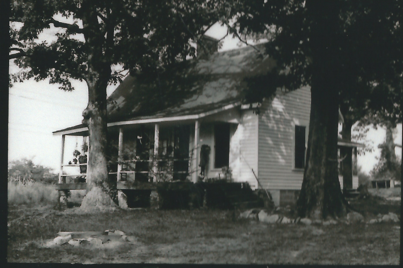 Historic photo of one of the original tenant houses at Oak View