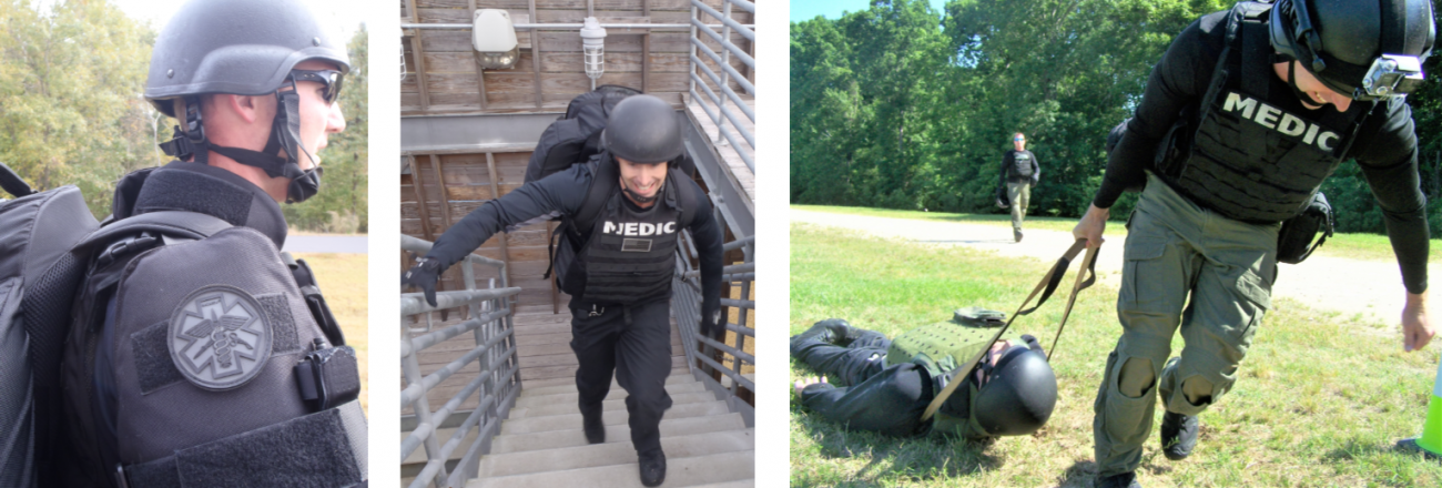 Tactical Paramedics in training exercise