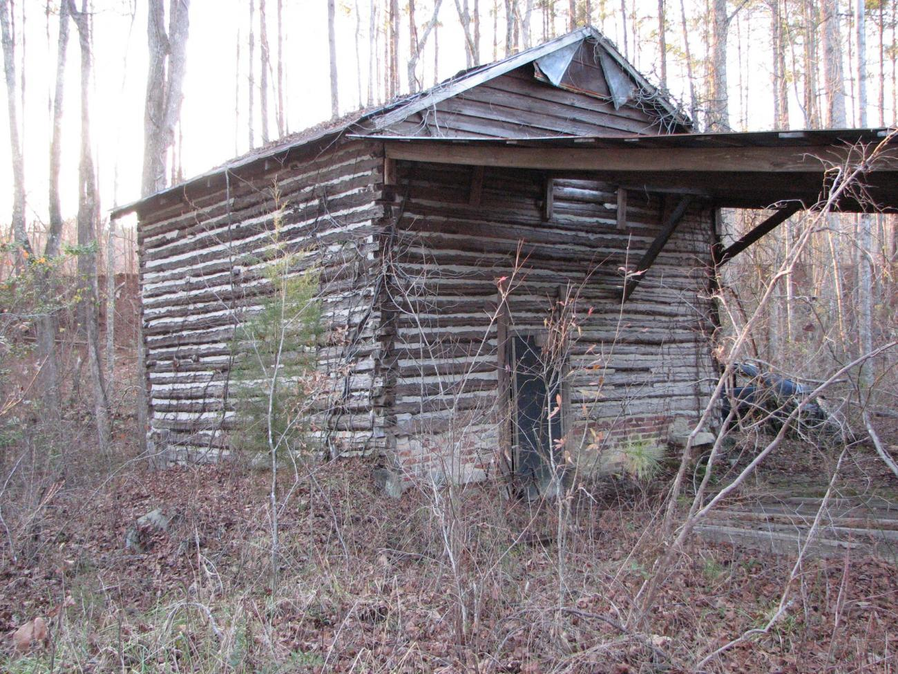 Photo of an old tobacco barn along the Wake County section of the American Tobacco Trail