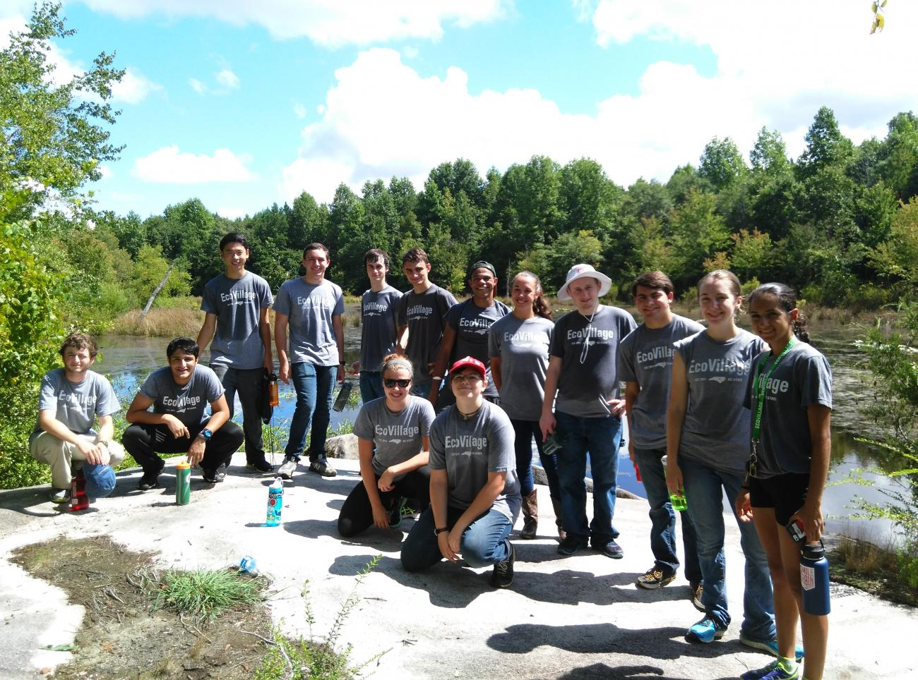 Volunteer group photo after a work day
