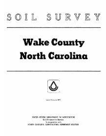 Cover of Wake County soil survey book