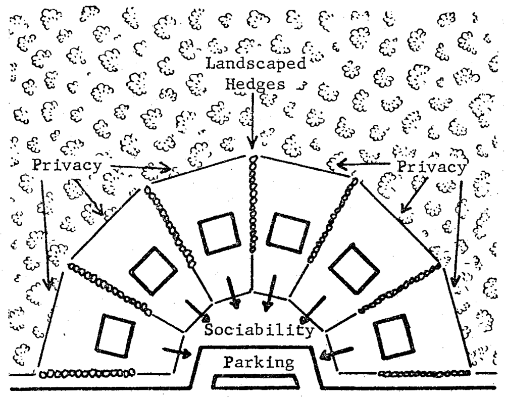 site plan showing residential lots