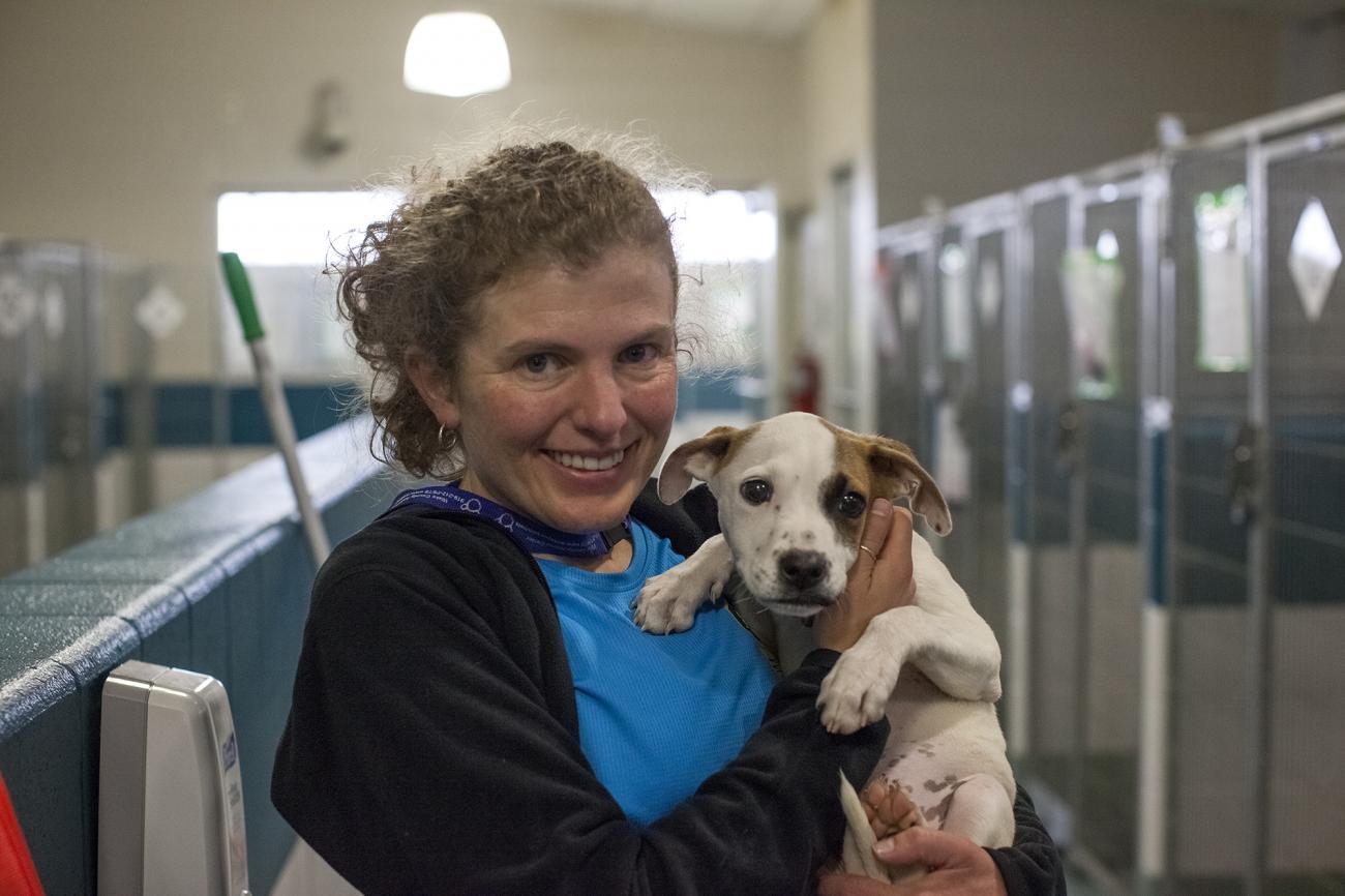 Shannon Johnstone & Puppy