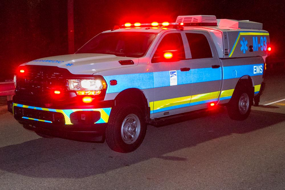 Advanced Practice Paramedic response vehicle on the scene of an emergency