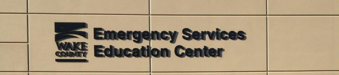 Front sign of Emergency Services Education Center
