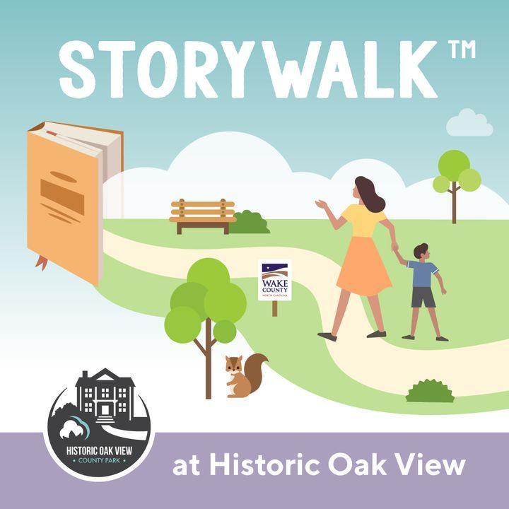 Storywalk graphic at Oak View