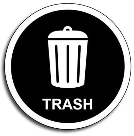 Trash Disposal Landfill Symbol