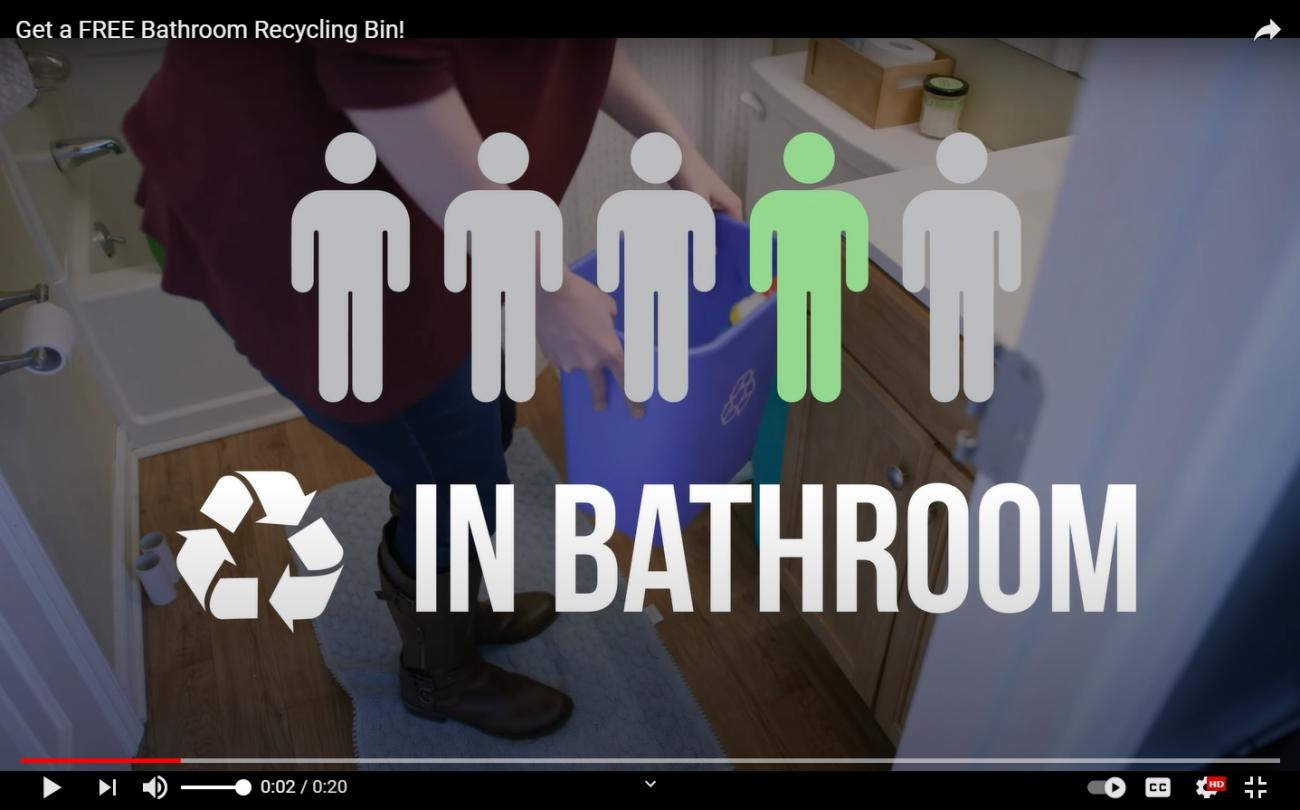 How To Video Bathroom Recycling Initiative