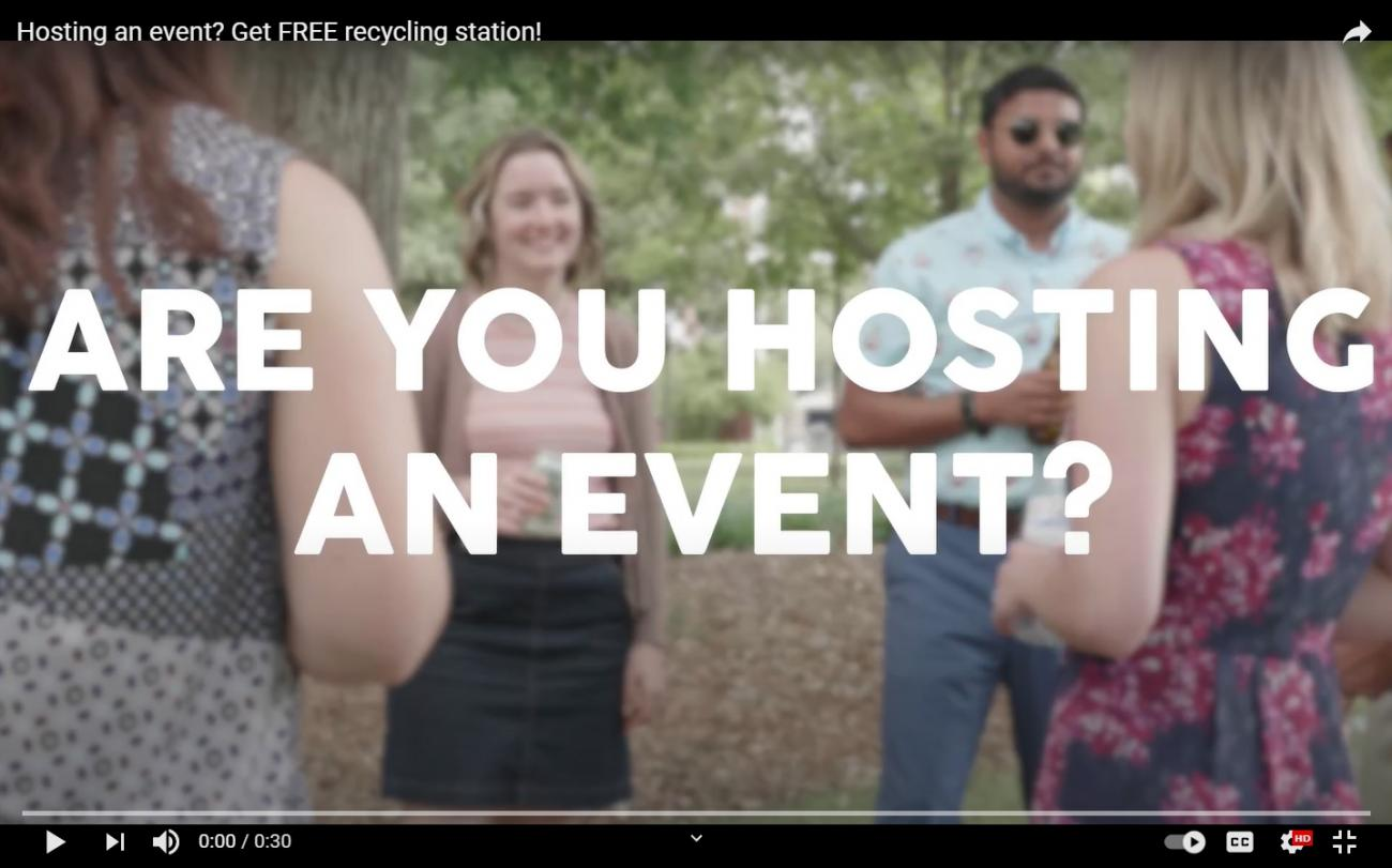 Video on how the Event Recycling & Bin Loan Program works