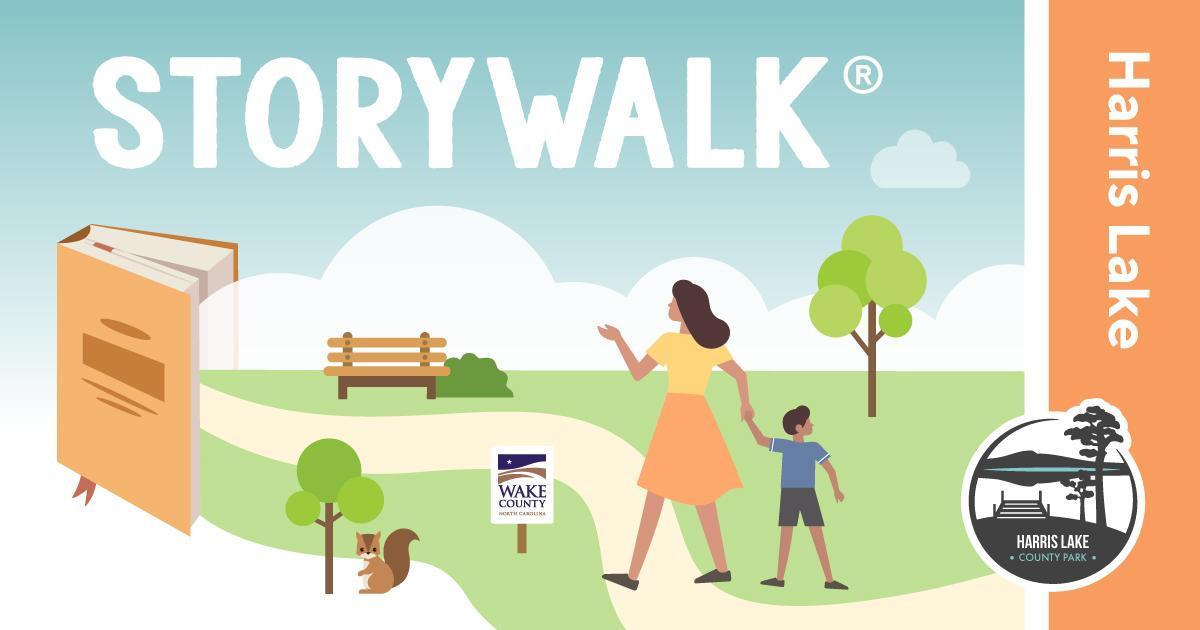 The graphic for Harris Lake County Park StoryWalk®