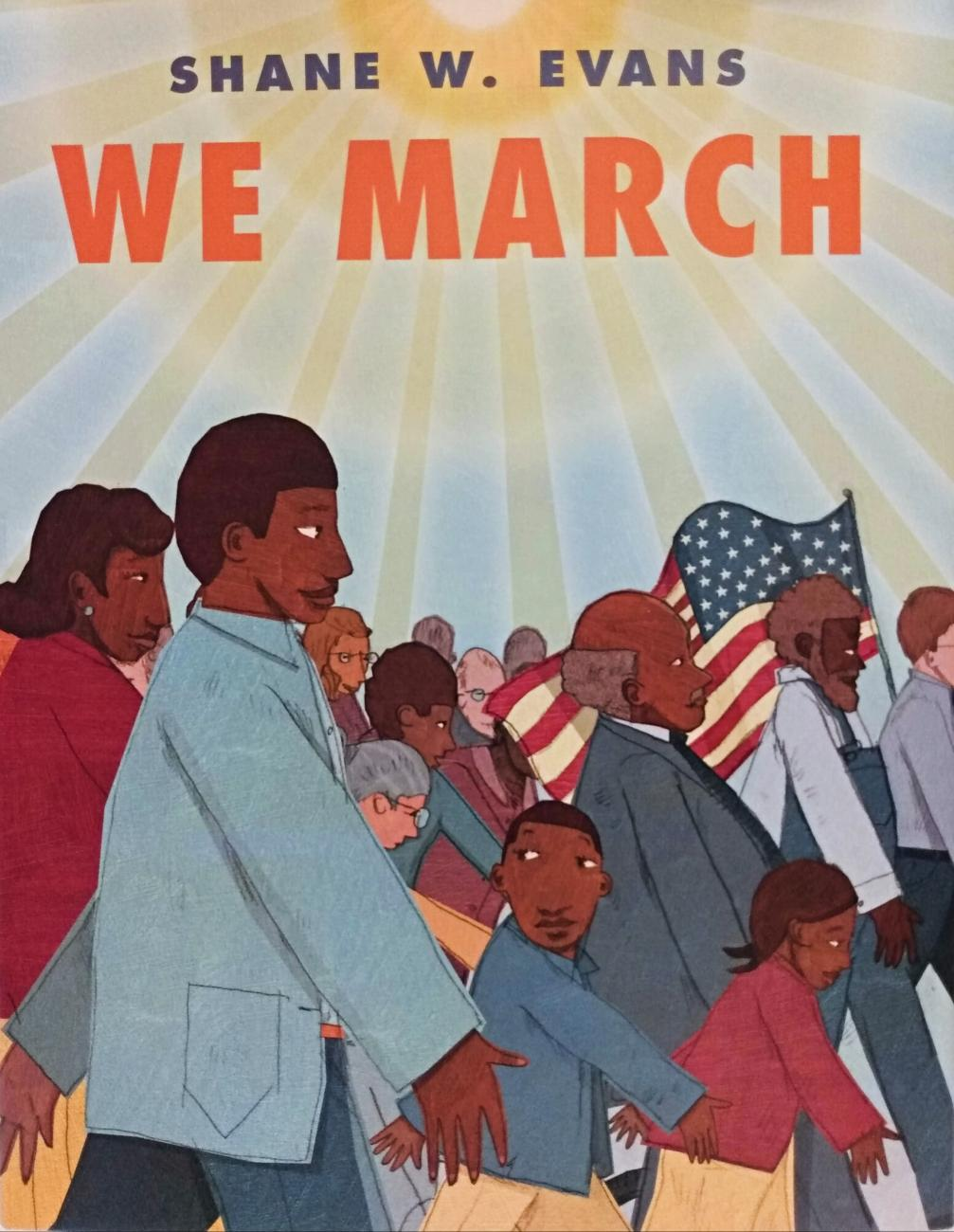 Cover image of the book We March