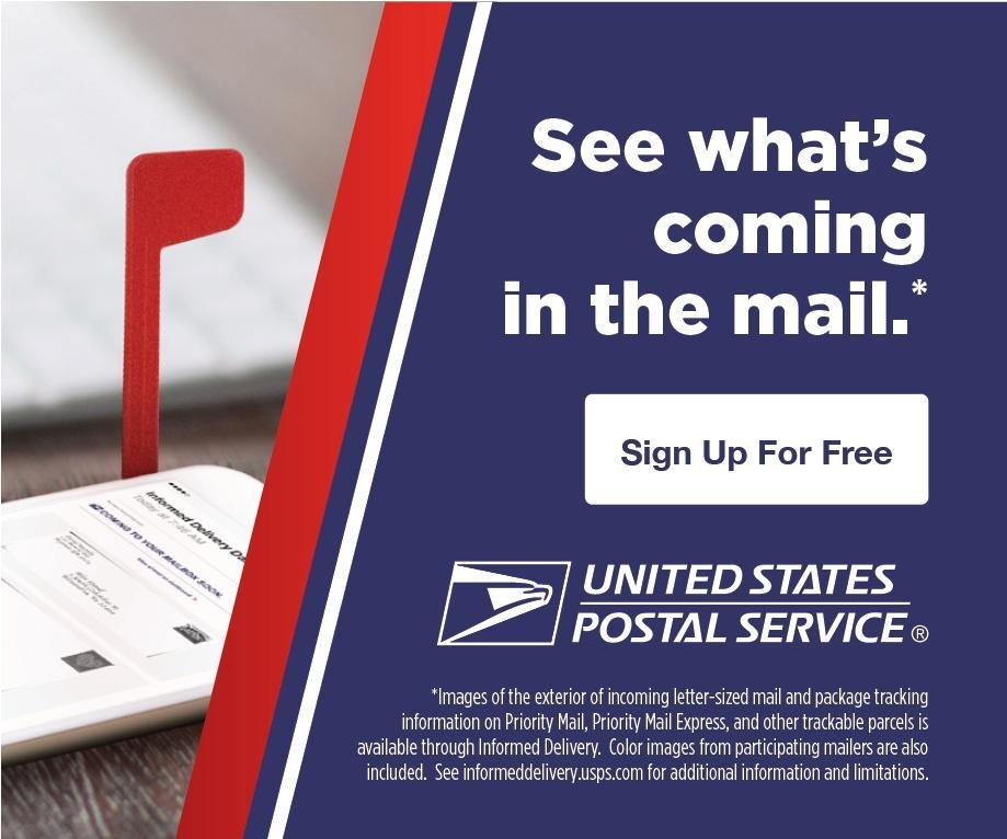 USPS link to sign up for Informed Delivery