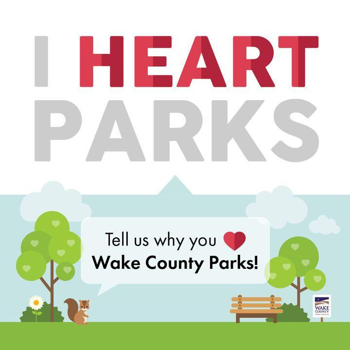 Graphic for I Heart Parks campaign