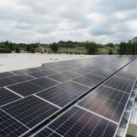 A picture of Oak City Multi-Services Center's roof solar panels