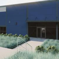 A rendering of the outside of the Board of Elections Building