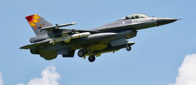 Taiwanese F-16s star flying with live harpoon anti-ship missiles to deter China