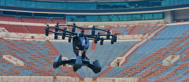 """""""Hexa,"""" an eVTOL aircraft displayed at Air Force Research Laboratory even in Texas"""