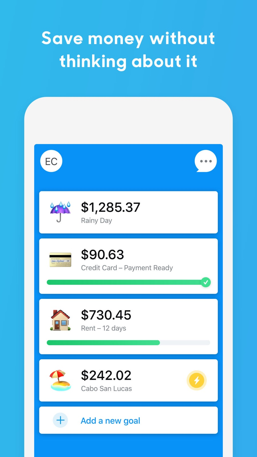 Example of Design for Finance App , App Store Screenshot by Digit