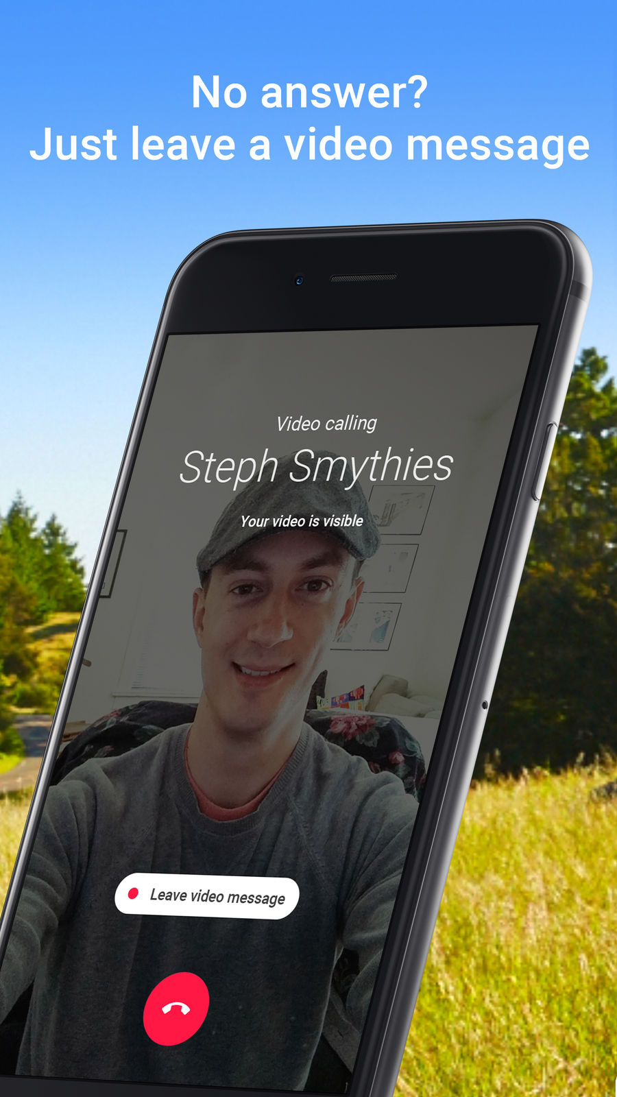 Example of Design for Social Networking App , App Store Screenshot by Google Duo