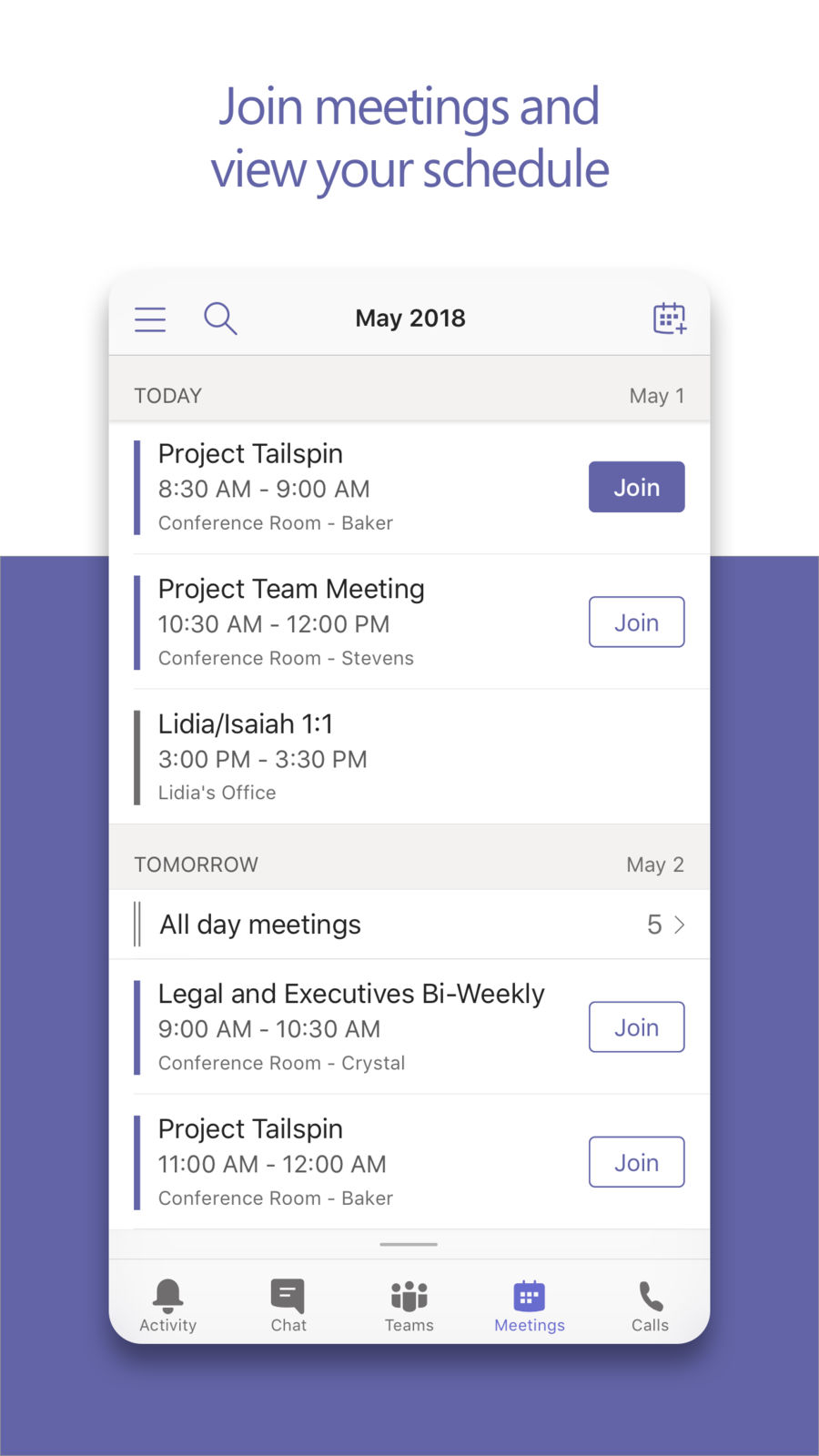 Example of Design for Business App , App Store Screenshot by Microsoft Teams