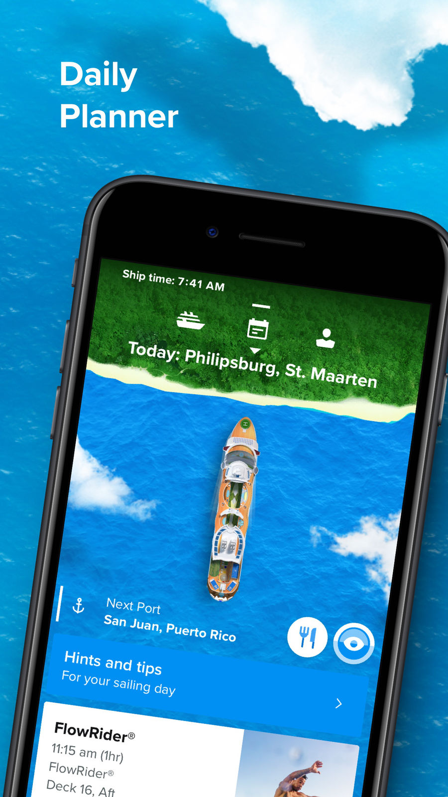 Example of Design for Travel & Local App , App Store Screenshot by Royal Caribbean International