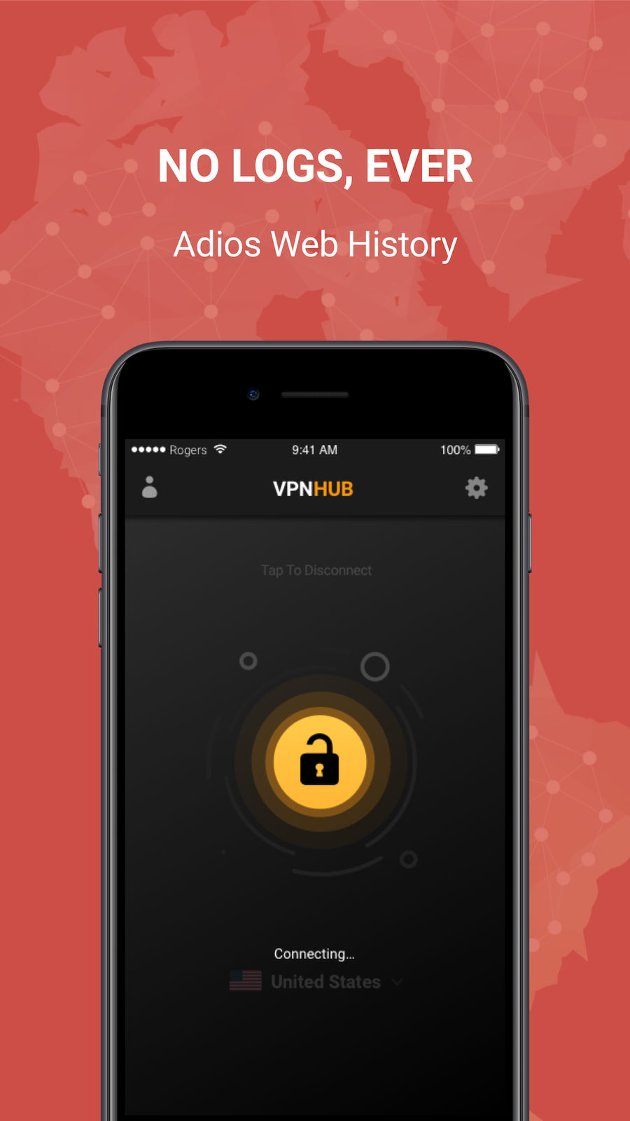 Example of Design for Productivity App , App Store Screenshot by VPNHUB Unlimited Anonymous VPN