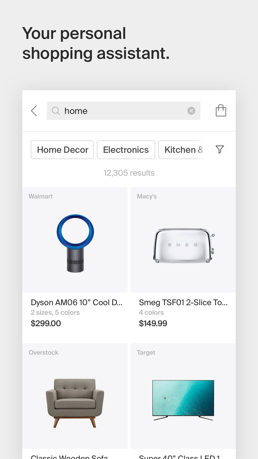 Example of Design for Shopping App , App Store Screenshot by Honey Smart Shopping Assistant
