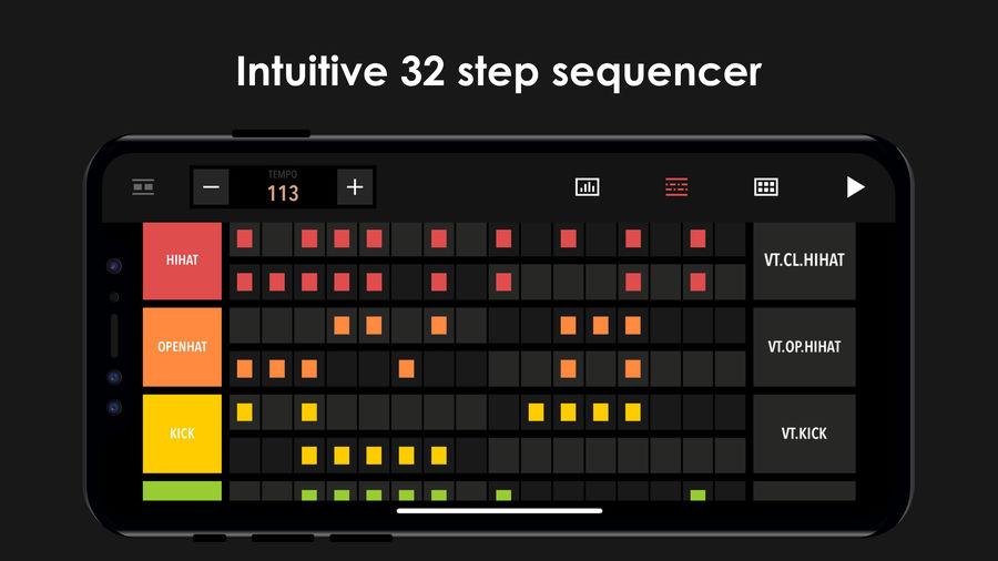 Example of Design for Music & Audio App , App Store Screenshot by Drum Machine
