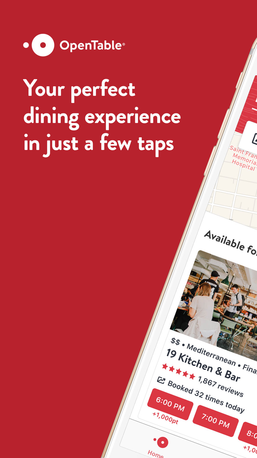 Example of Design for Food & Drink App , App Store Screenshot by OpenTable