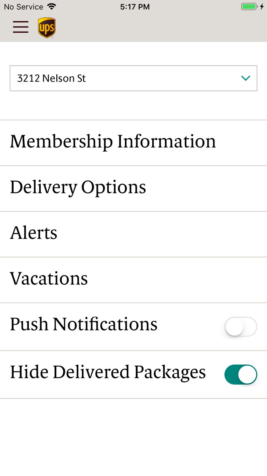 Example of Design for Business App , App Store Screenshot by UPS Mobile