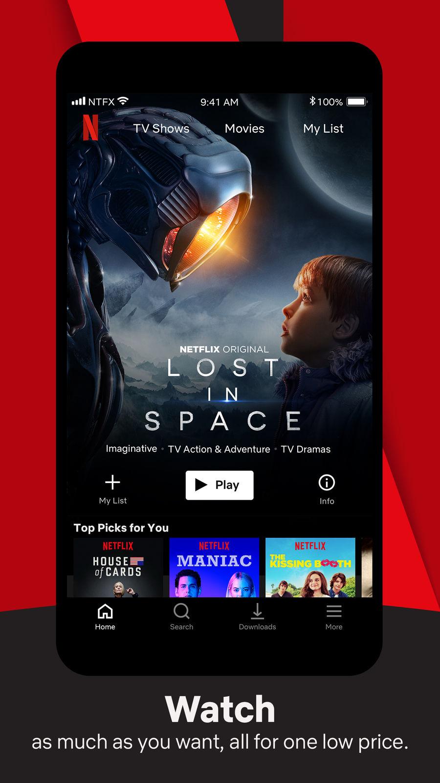 Netflix: Appstore Screenshots of Entertainment | Appstore Screenshots |  Waveguide.io