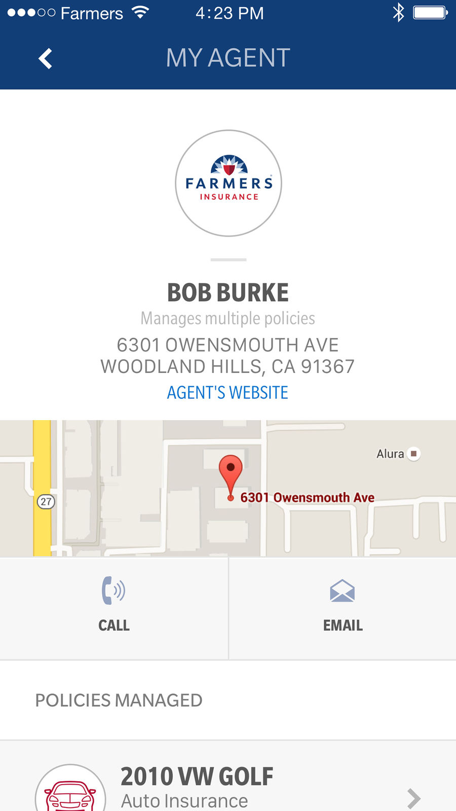 Example of Design for Finance App , App Store Screenshot by Farmers Insurance Inc.