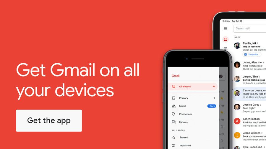 Example of Design for Productivity App , App Store Screenshot by Gmail