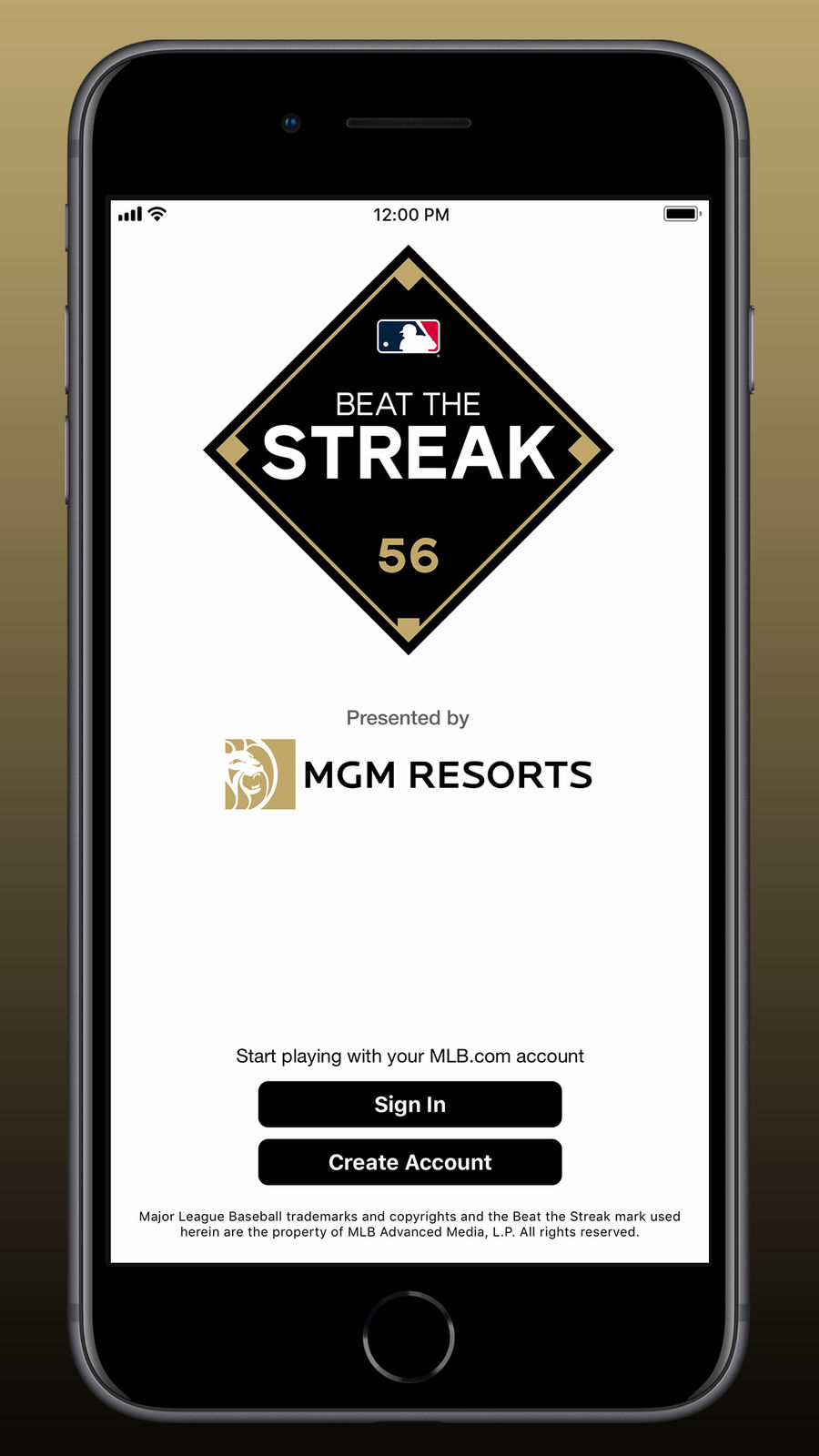 Example of Design for Sports App , App Store Screenshot by MLB Beat the Streak