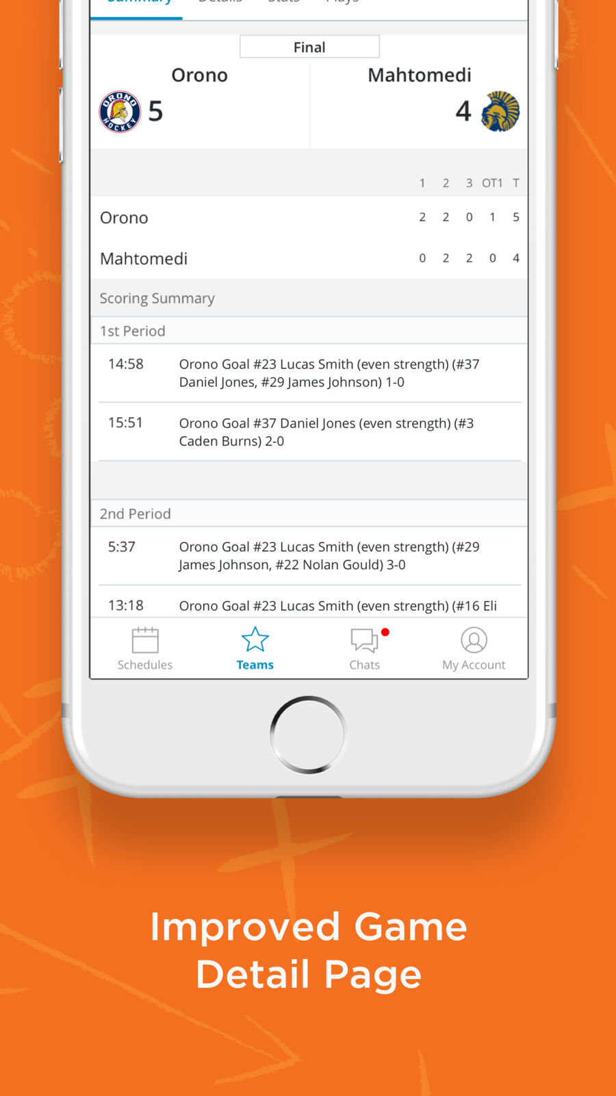 Example of Design for Sports App , App Store Screenshot by SportsEngine Team Management