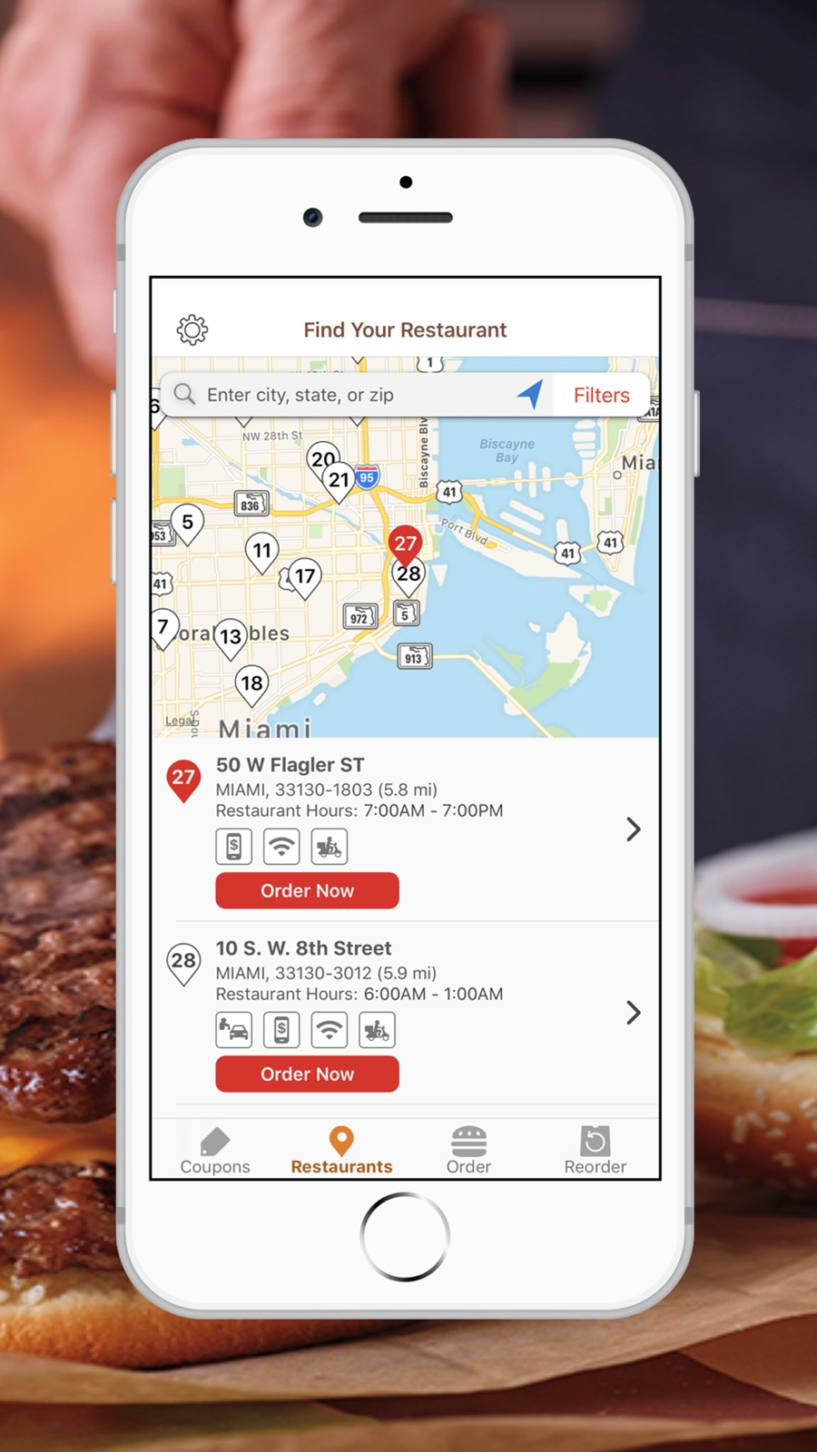 Example of Design for Food & Drink App , App Store Screenshot by BURGER KING® App