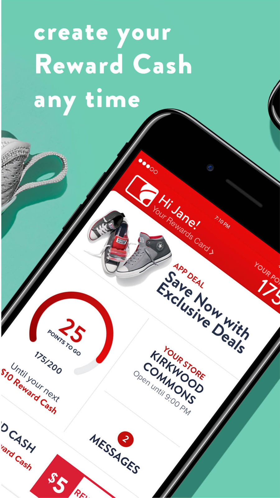 Example of Design for Shopping App , App Store Screenshot by Famous Footwear Mobile