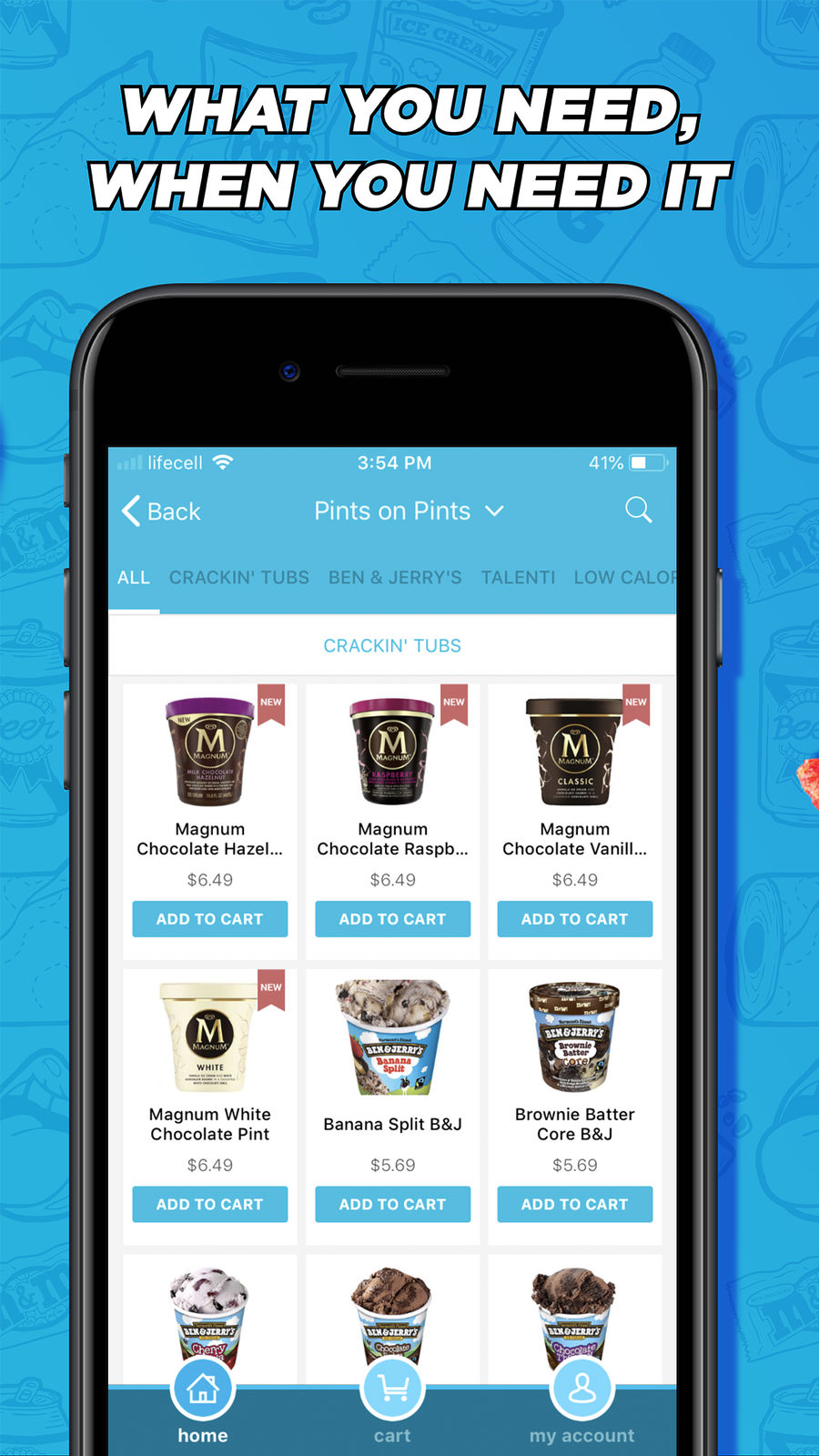 Example of Design for Food & Drink App , App Store Screenshot by goPuff