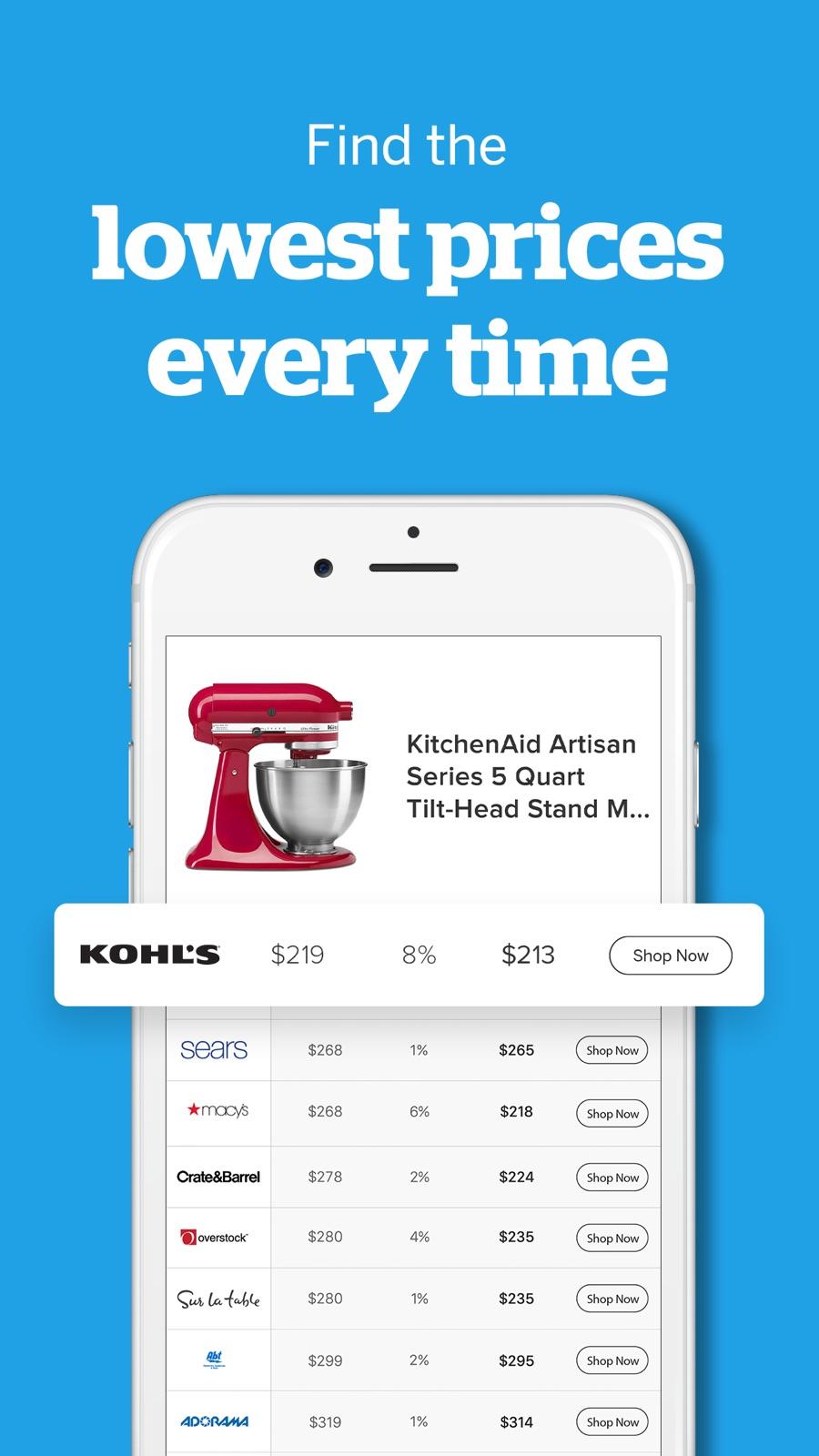 Example of Design for Shopping App , App Store Screenshot by Ebates Rakuten